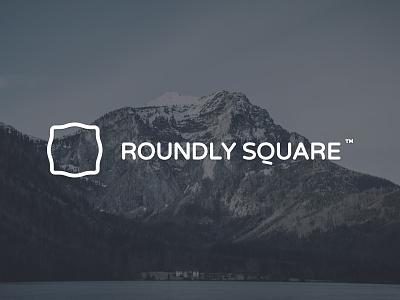 Roundly Square logo brand identity emblem square branding round blue