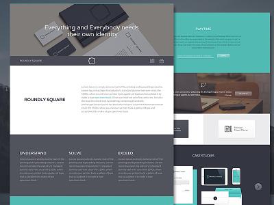 Roundly Square Website Design web photoshop website ui flat landing page branding agency studio