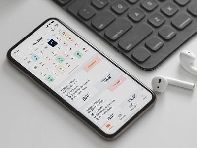Shift Planner Calendar ipad airpod iphone plan booking healthtech medic shift planner time date calendar ux icon clean ios design app ui