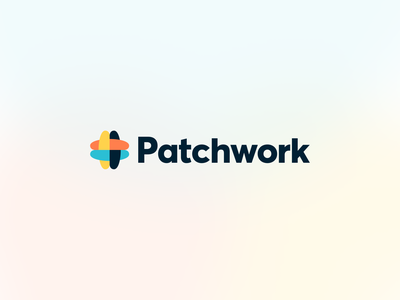 Patchwork Rebrand type logo concept concept logomark logo mark gradient blur typography logo design logodesign emblem branding logo brand