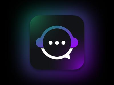 Choona App Icon logo brand branding emblem black blur gradient application social media social music android icon ios icon app icon ios icon app