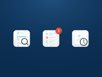 Feature Illustrations simple alert notification graph blur clean pricing search icons icon illustration