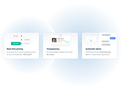 Landing Page Illustrations features graphics illo website landing page marketing page saas web design webpage web gradient blur illustration icon clean ux design ui