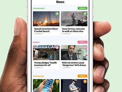 Stock App - News Feed design ios app ios10 clean simple category stock article news ui iphone