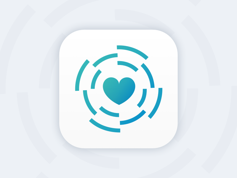 Icon Exploration identity brand emblem heart vinyl love ios10 app ios icon