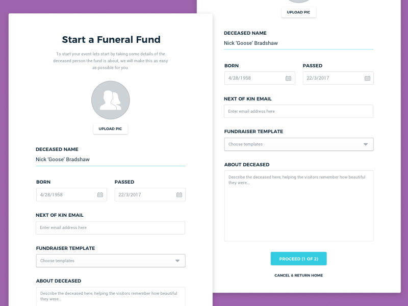 Funeral fund form