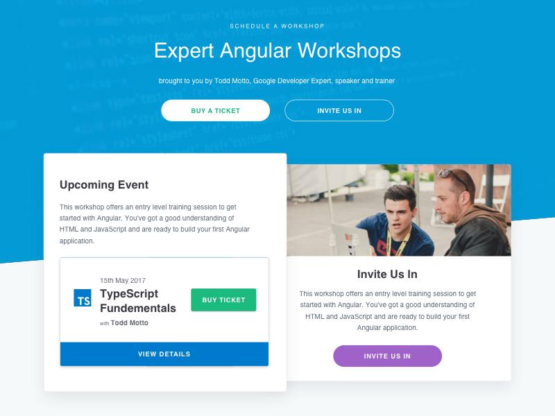 Angular Workshops angle web design website web workshops angular design ux ui
