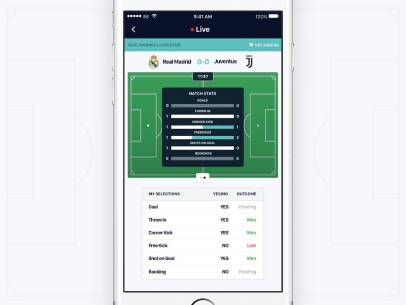 Inplay Stats - Betting App ux ui soccer iphone ios gambling football design betting bet app