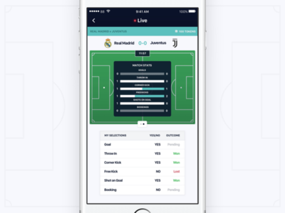 Inplay Stats - Betting App