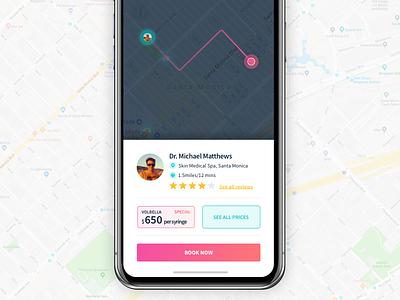 Locate DR maps nav dr navigation map iphonex iphone ios gradient app