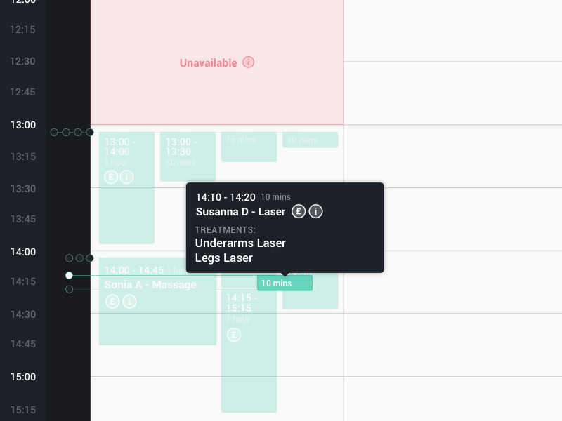 Calendar Event Hover time date ux ui clean design cell input event calendar