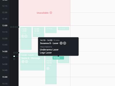 Calendar Event Hover time date ux ui clean design cell input event calendar