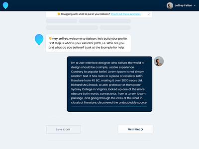 Chatbot Intro Screen webapp web ux  ui uiux ui minimal clean design chatbot ai