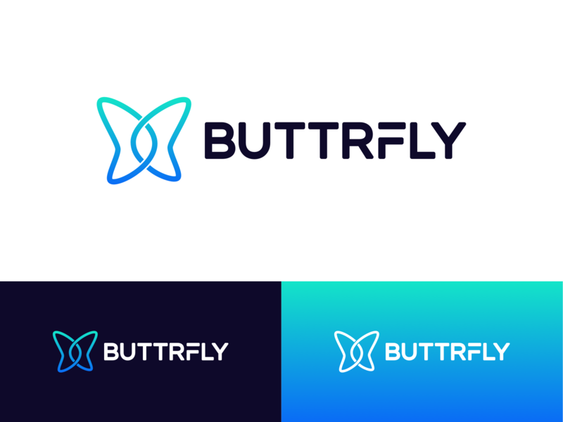 Final Butterfly Logo icon blockchain typography type emblem mark animal butterfly branding brand logo