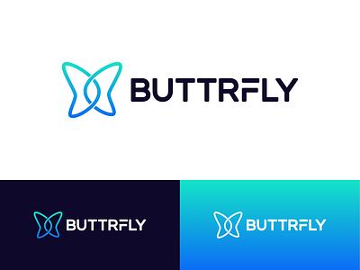 Final Butterfly Logo icon blockchain typography type emblem mark animal butterfly branding brand logo