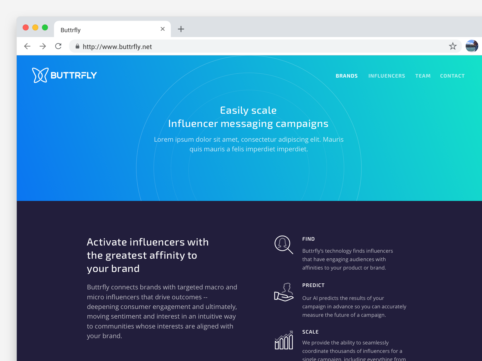 Butterfly - Marketing Website typography web design blockchain design webdesign ux ui gradient color minimal gradient clean landing page marketing website