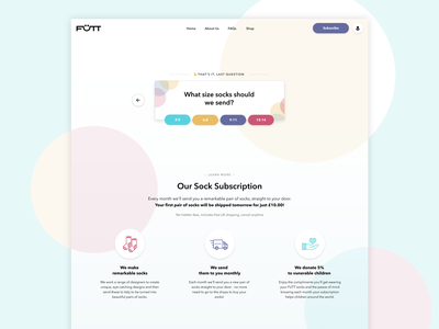 Futt Chatbot marketing landing page website web chatbot icon illustration clean design ui