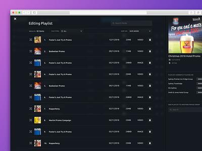 Edit Media Playlist edit playlists playlist media web website clean application design app ux ui