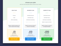 Email Service - Pricing Table