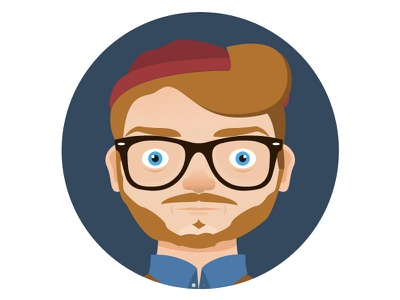 Flat Self Portrait flat design self portrait illustration
