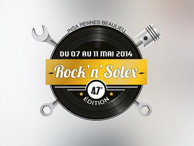 Rock'n'Solex concept logo rocknroll solex rennes vinyl music