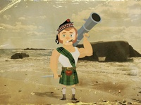 Second World War Scottish soldier