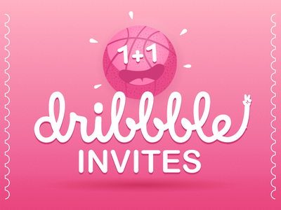 Two Dribbble Invites illustration designer invites invitation dribbbleinvites dribbble