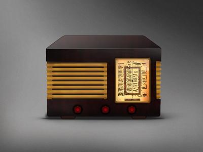 TSF radio icon  tsf radio icon vintage retro
