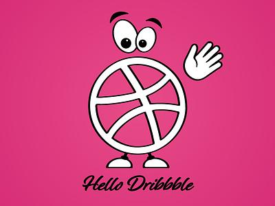 Dribbble thank pink design art comics sketch creature hello dribbble hello
