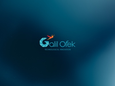 """Galilofek"" - peripheral technology incubator innovation identity technology logo design"