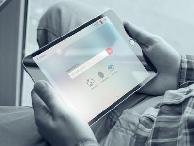 Project Search screen screen flow app concept design ui