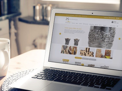 Gift land - online shop, gifts from holy land ui branding design