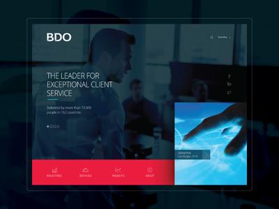 BDO theme - home page site design ui ux branding design