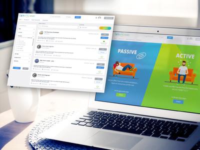 Talink.me - hr platform, talent side high tech system hrms software branding innovation ui web design design ui  ux