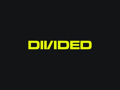 Divided typeface clean branding vector logo logotype design lettering typography type