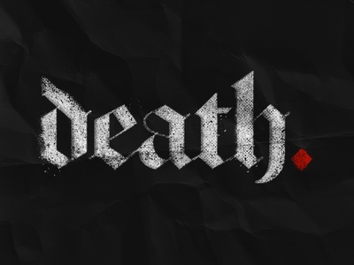 Death ink texture layer styles lettering illustration typography design type
