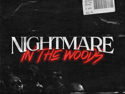 Nightmare In The Woods lettering illustration colorful typography logotype design type