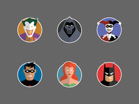 Batman The Animated Series Stickers, Phase 1