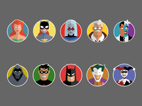 Batman The Animated Series Stickers