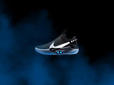 Nike Adapt Desktop Slider sketch smoke shopping slider adapt shoes 2020 principleapp ux desktop nike design sneaker sneakerhead ui branding animation