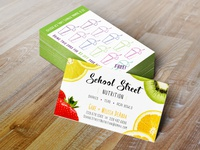 School Street Nutrition Business Card