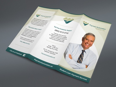 Payment Automation Network professional brochure professional graphic designer graphic design print design promo materials promotional print brochure