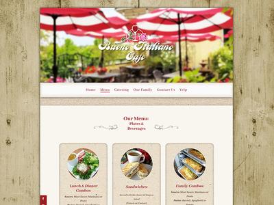 Italian Cafe Website Design web bueno italiano design graphic design adobe xd ux webdesign website italian