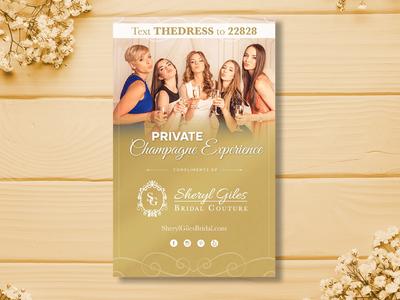 Bridal Show Flyer professional brochure professional graphic designer graphic design print design promo materials promotional print bride wedding bridal flyer