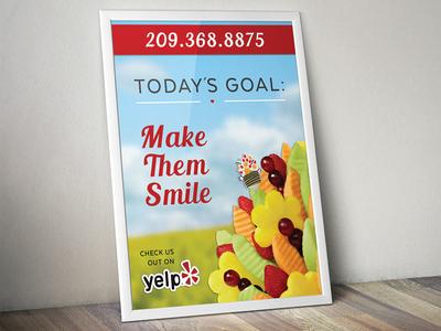 Edible Arrangements Poster graphic design. commercial edible arrangements print design poster