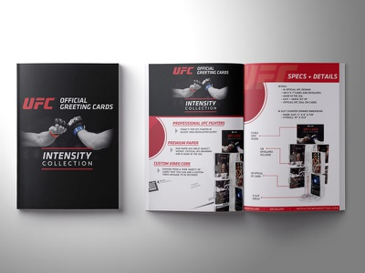 Sales Brochure fighers greeting cards ufc