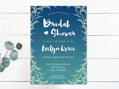 Bridal Shower Invitations vector invite bridal bridal shower print design print