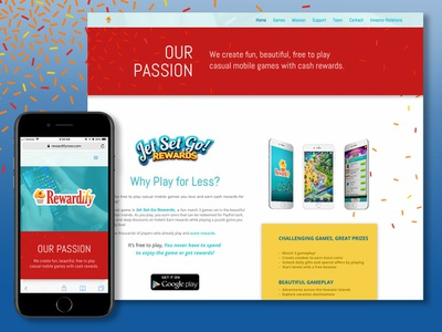 Rewardify Web Design games web design web graphic designer graphic design