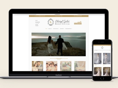 Wedding Shop Branding + Web Design graphic design print design bridal design graphic designer graphic logo wedding