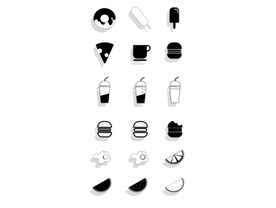 icons identity food icons icon set icon minimal illustration ui branding illustrator art design